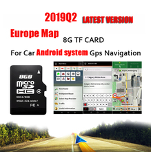 Fit for Android System Car Auto GPS Navigation 8GB Micro SD Card Map of Europe France,Italy, Norway,Poland, Russia,Spain etc