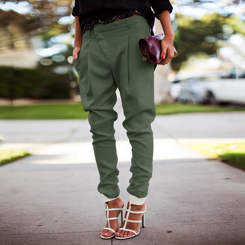 Streetwear Pencil Pants Women Casual Joggers Black High Waist Loose Female Trousers Korean Style Ladies Pants Capri