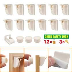 12 + 3 pcs/set Magnetische Kind Lock Baby Veiligheid Baby Bescherming Kast Deurslot Onzichtbare Sloten Kinderen Veiligheid lade Locker + Toetsen