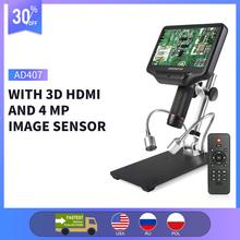 Andonstar AD407 3D HD Digital Microscope 7-inch LCD Screen Electronic Soldering Microscope for SMT/SMD Phone Repairing