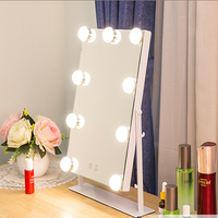 Cosmetic Hollywood makeup Mirror with led light 10X Touch Dimmer Switch Operated Stand for Tabletop spiegel espelho зеркало VIP