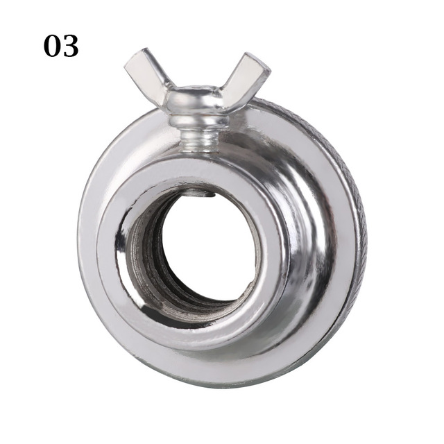 Johnshine Chrome Plated Weight Steel Spring Olympic Dumbbell Spinlock Collars Check Nut Spin Lock Screw Barbell Bar Clips