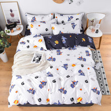 Reactive printed dinosaur Bed Cover Flat Sheet Pillow Cases Bedding Linen Set No quilt(China)