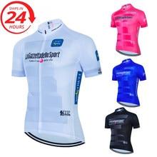 Profesional bicicleta ropa de equipo de hombres de manga corta ciclismo Jersey de verano transpirable deporte bicicleta mtb ropa roupa ciclismo masculino