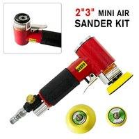 2019 High Quality 2 3 Mini Air Sander Set Pneumatic Orbital Polishing Machine For Auto Body
