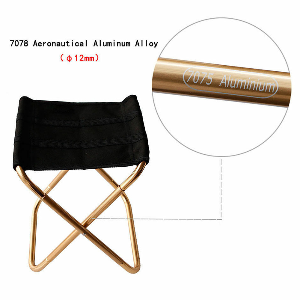 Travel Ultralight Folding Chair Superhard High Load Outdoor Camping Chair Portable Beach Hiking Picnic Seat Fishing Chair  NDS66