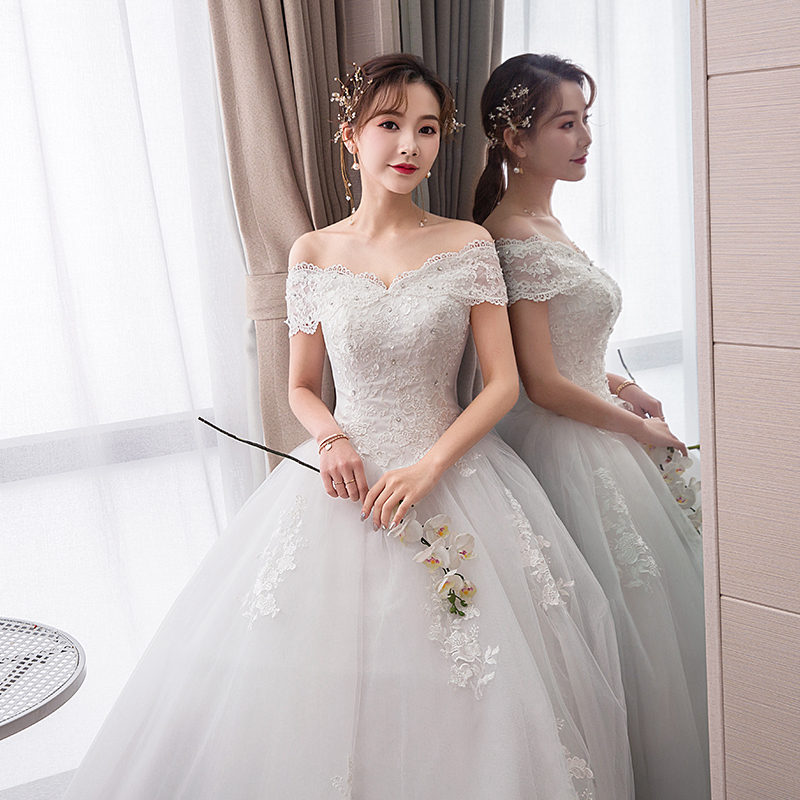 Wedding Dress Ball Gowns Lace Up Wedding Dresses Bride New Luxury Princess Embroidery Plus Size Dresses