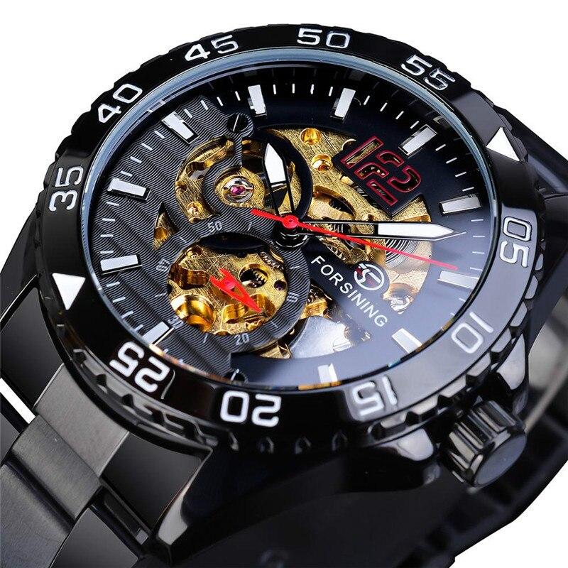2020 New Men's  Fashion Trending Casual Hollow Waterproof Automatic Mechanical Watch Luxury Automatic Self-Wind Watch Men  Gift
