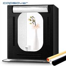 كابوسافير F60 المحمولة استوديو الصور صندوق إضاءة LED 60*60 سنتيمتر للطي صندوق الضوء سوفت بوكس صور اطلاق النار خيمة لعبة مجوهرات المنتج