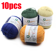 10pcs 100% Cotton Yarn Knitting Yarn Crochet Yarn for Knitting Anti Pilling 500g/Set