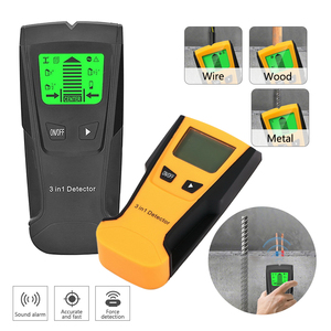 Multifunction 3 In 1 Deep Metal Detector Gold Live Wire&Stud Wood Stem Center With Probe Wall Scanner Electric Box Detector(China)