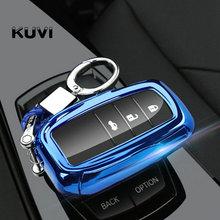 Tpu Car Remote Key Case Fob Shell Cover Skin Holder For Toyota Hilux Fortuner Land Cruiser Camry 3 Button 2016 2017 2018 soft tpu car key case cover keychain for toyota avalon 8 camry 2019 levin ioza chr