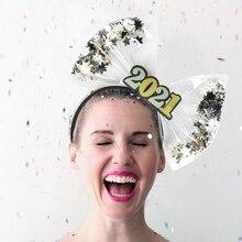 Hoop Hair-Accessories Glitter-Star Headband Christmas-Hair New-Year Xmas Bow Photo-Props
