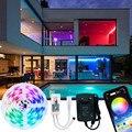 Светодиодные ленты светильник RGB гибкая лампа в виде ленты светодиод RGB Luces; Большие размеры 5-возможностью погружения на глубину до 30 м SMD 5050 ...