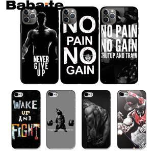 Babaite бодибилдинг тренажерный зал чехол для телефона iPhone 8 7 6 6S Plus X XS MAX 5 5S SE XR 11 11pro promax 12 12Pro Promax