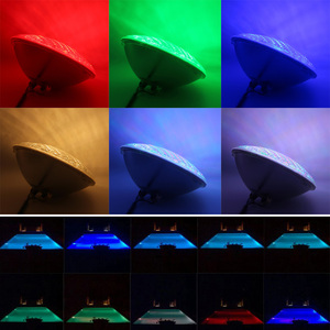 Image 5 - RGBW שחייה בריכת מנורת 24W 36W 48W 60W 72W סינכרוני RGB PAR 56 LED 12V ג קוזי הנורה חם לבן קר לבן