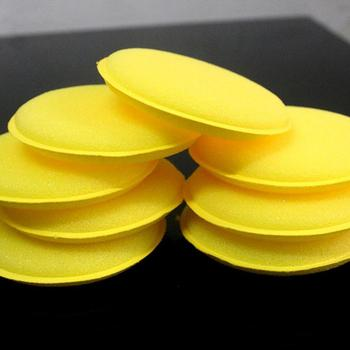 Car Special Waxing Round Sponge Crimping Small Sponge Polishing Sponge Car Wash Sponge фото