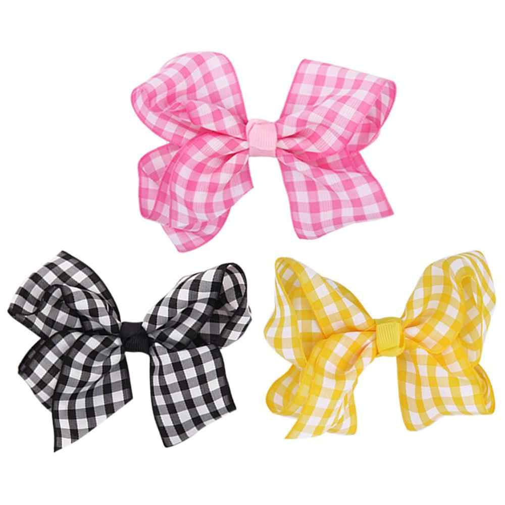 1PC Colorful Ribbon Grosgrain Bow Hair Clip Barrette Kids Girls Hair Accessories