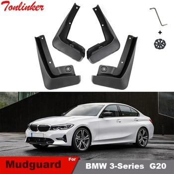 Tonlinker For BMW 3 Series G20 2018-2020 Mudflap Fender Mudguard Car  4 PCS ABS Plastic Mudflaps Flap Splash Accessories