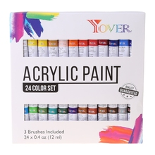 24 Colors Professional Oil Painting Paint Drawing Pigment 12ml Tubes Set Artist G8TA