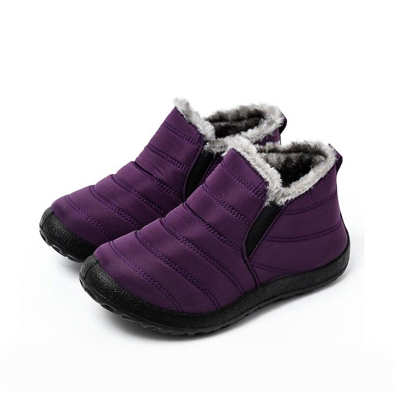 Snow Boots Women Shoes Warm Plush Fur Ankle Boots Winter Female Slip On Flat Casual Shoes Waterproof Ultralight Footwear 20