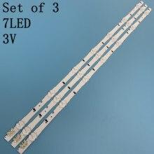 Novo kit original 3 pçs 7led 650mm led backlight strip para samsung ue32h4000 D4GE 320DC0 R3 2014svs32hd 3228 BN96 35208A 30448a