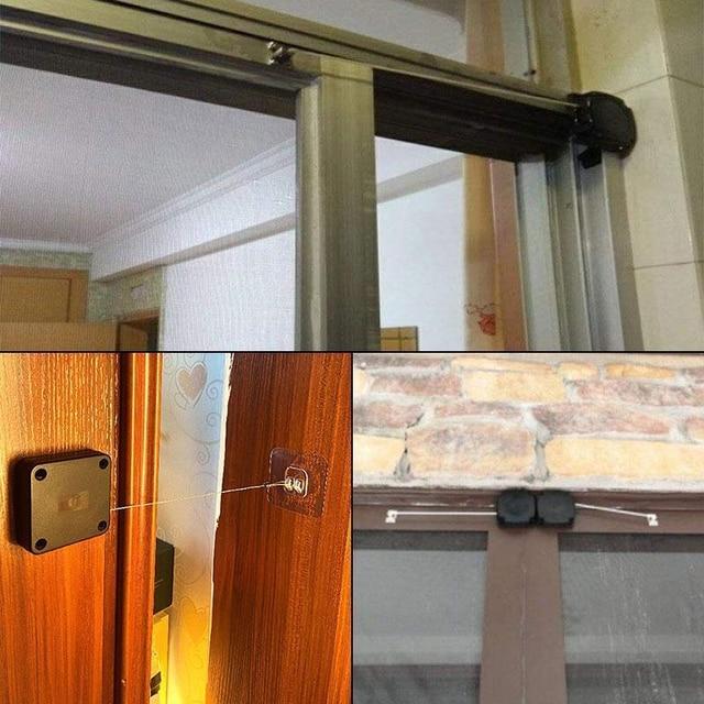 Door Closer Punch-Free Automatic Door Closers For Drawers Rawstring Door Closer Bracket Door Automatic Closer 5