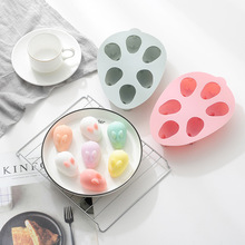 Halloween 6 hole 3D bunny mould Microwave oven baking DIY silicone mold Net Red Cake Mould Pudding mould Kitchenware premier housewares 6 starfish cake pop silicone mould red