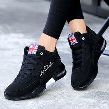 Botas de nieve para mujer 2019 zapatos deportivos al aire libre invierno mantener caliente zapatillas de felpa zapatillas de correr con cordones mujer Zapatillas de plataforma Mujer
