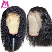 360 peluca frontal de encaje 13x4 rizado pelucas de cabello humano para las mujeres negras de la onda profunda corto PrePlucked con bebé Pelo Largo brasileño Remy