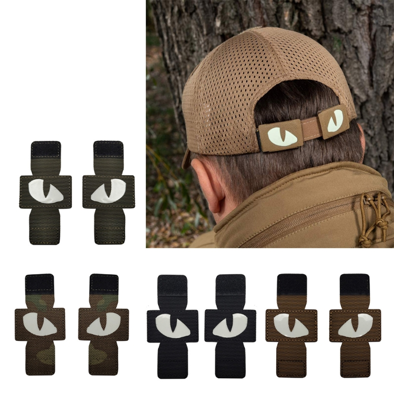 Cat Eyes Morale Nightlight Fluorescent Patch Military Army Evil-Eyes Luminous Glow in The Dark Travel Backpack Hat Tags