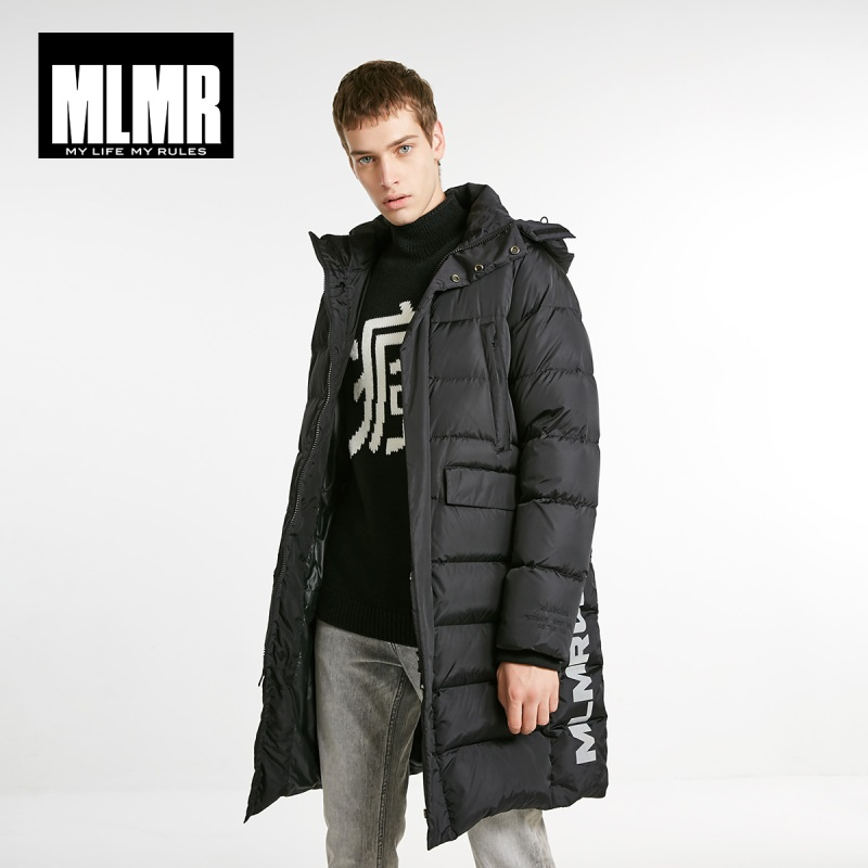 MLMR Men's Winter Long Down Jacket Warm Parka Coat JackJones New Brand Menswear 218412542