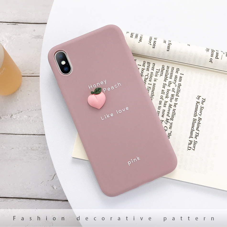 flexible 3D Candy Color Soft Phone Case for iPhone
