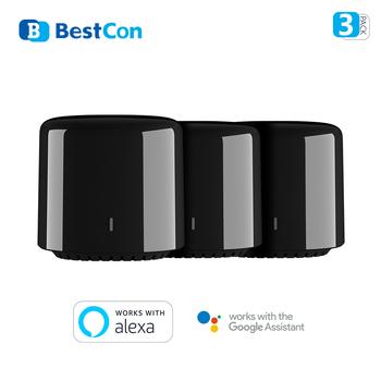 1 2 3-Pack nowy Broadlink RM4C mini BestCon marka RM4 uniwersalny pilot nadajnik podczerwieni współpracuje z Alexa i Google Home tanie i dobre opinie CN (pochodzenie) Ready-to-go SOLAR 2 kanały Wireless 5V DC 1A Free 0-50 degree iOS 8 0 Andriod 4 0 and above 2 4GHz 802 1b g n