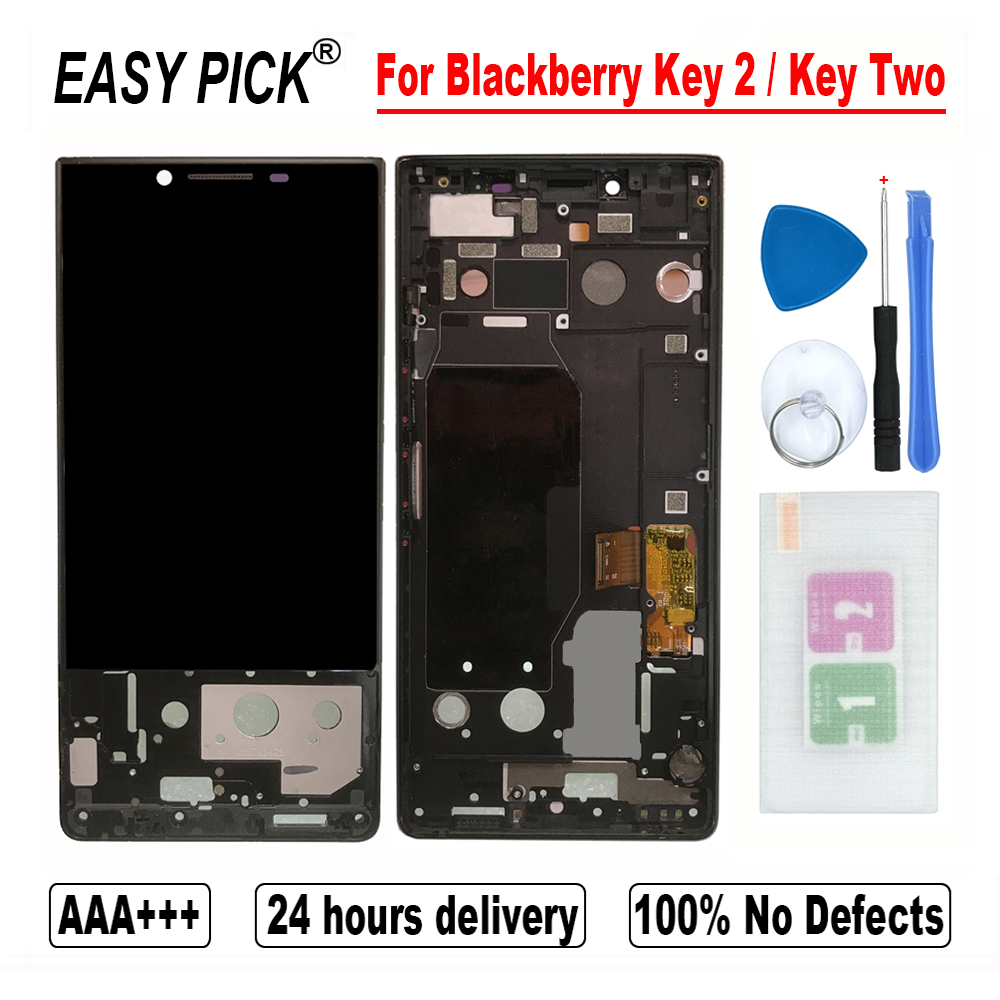 For Blackberry Key 2 / KeyTwo BBF100-2 BBF100-6 -1 -4 -8 -9 LCD Display Touch Screen Digitizer Assembly For Blackberry Key2(China)