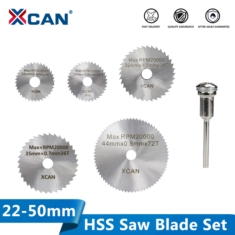 XCAN HSS Mini Saw Blade Circular Cutting Disc Power Tools Accessories Wood Metal Cutting Blade