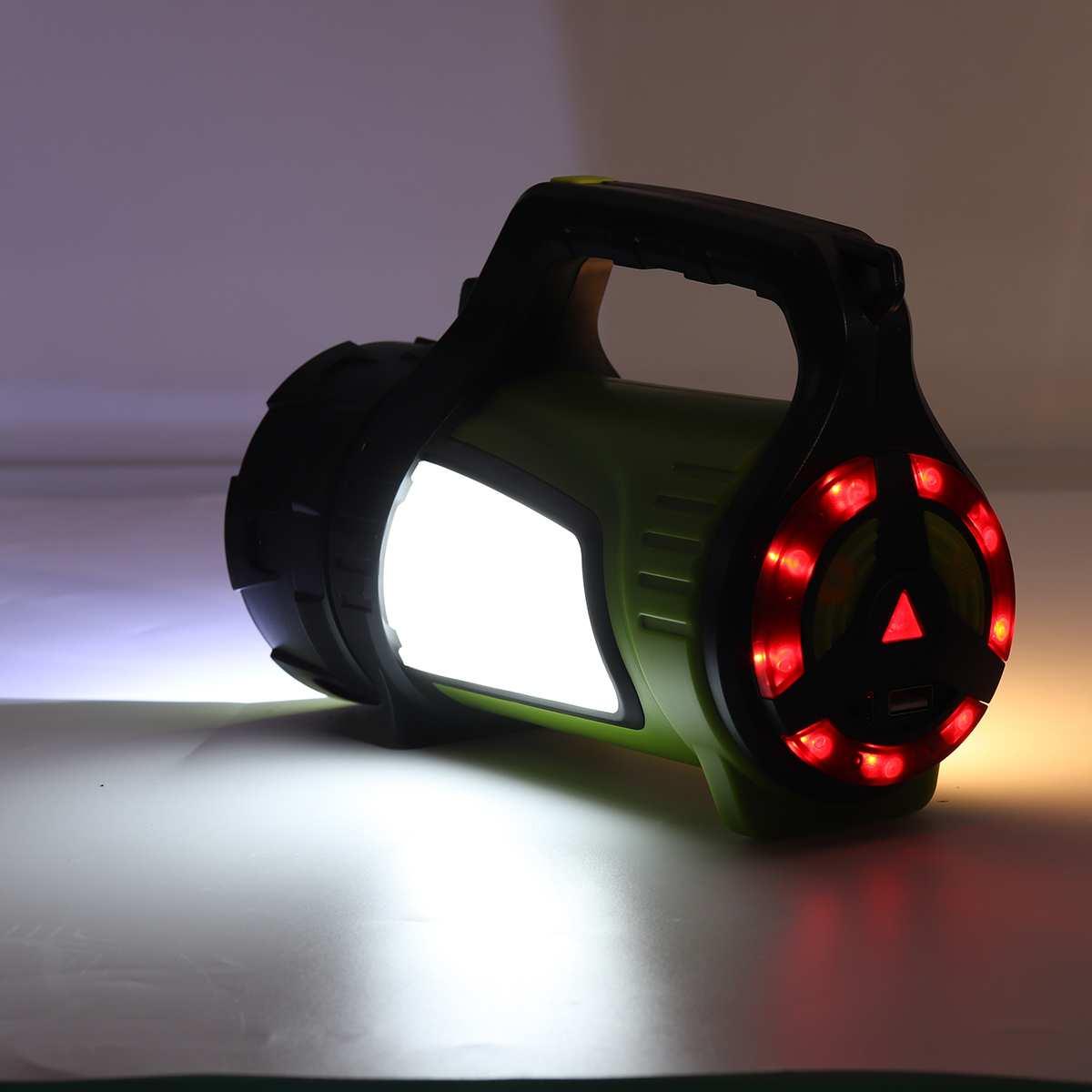 Супер яркий Мощный USB светодиодный вспышка светильник поиска фонари 2 боковых ночной Светильник лампы ручной фонарь, фонарь для кемпинга ак