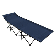 Cama plegable de refuerzo cama para siesta individual Escort camping cama de oficina cama para siesta reclinable lona cama plegable