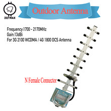 Zqtmax 13dBi Yagi Antenne 1700-2170Mhz Voor Dcs Wcdma Umts 3G Signaal Booster 1800 2100 2G 3G Lte Cellulaire