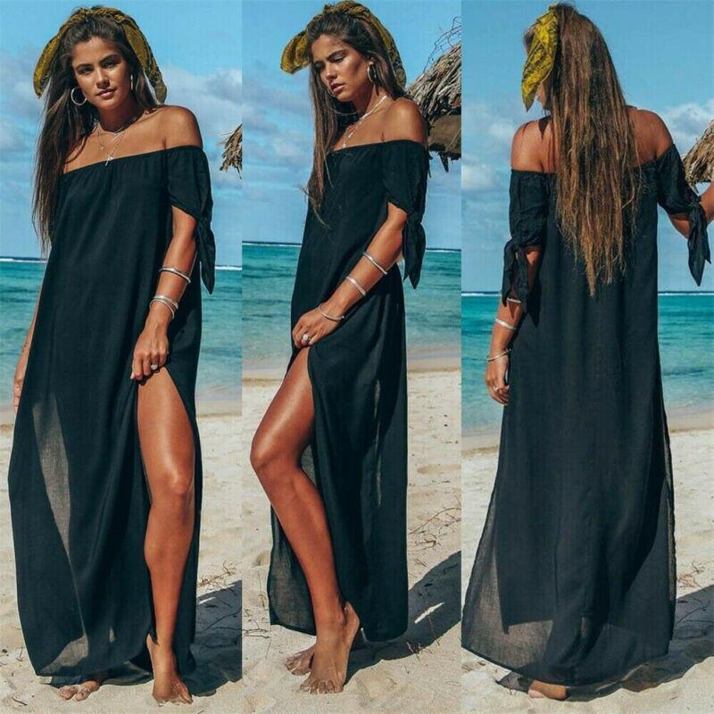 2020 Fashion  Women Girl Bikini Cover Up Swimwear Bathing Suit Summer Beach Dress Tops Hot Sundress