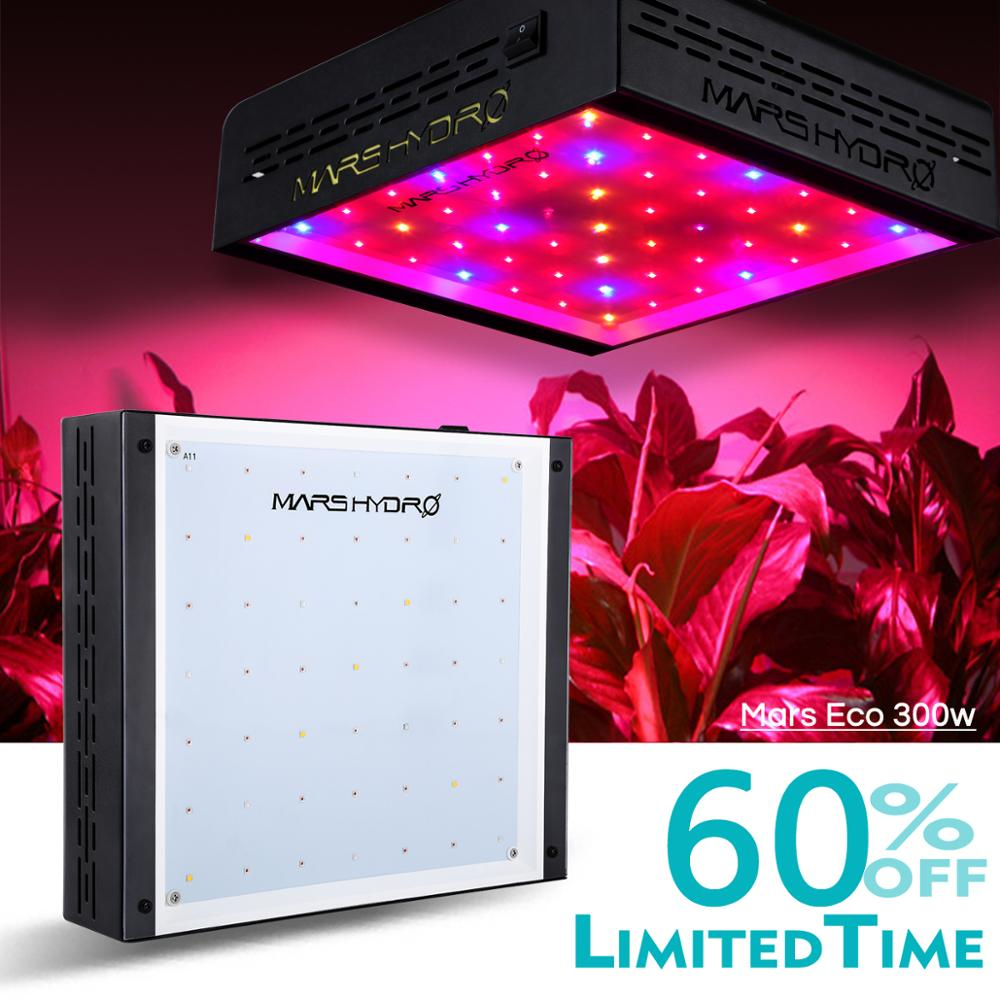 MarsHydro ECO 300W LED Grow Light For Indoor Grow Tent Plants Hydroponics Full Spectrum Growing Lamp From Seeding To Harvest