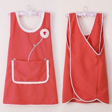 Apron For Women Gifts Prensts For Girls Flower Design Cute Pinafore Kitchen Tool Kitchen Supplies Creative Pocket Funny Apron