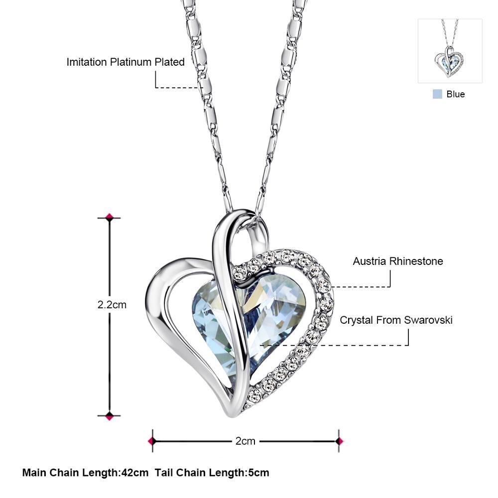 Women's Crystal Heart Charm Necklace Jewelry Necklaces Women Jewelry