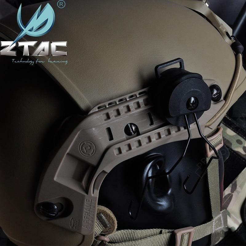 z tac airsoftsports capacete ferroviario adaptador fma ussf ops nucleo exfil colisao para sordin softair fone
