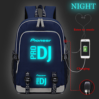 Teenager Backpack Boys Girls Pioneer DJ PRO School Bag Luminous Backpack Casual Laptop Backpack USB Charging Travel Backpack