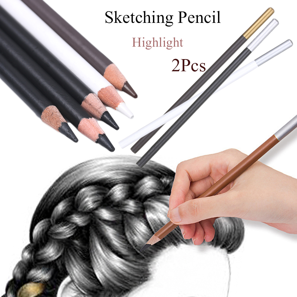 2 Pcs Pencil Extender Adjustable Wooden Lengthener Holder Painting Drawing SP