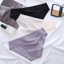 Soft Panties Briefs Seamless Women Ice-Silk Girly Sexy Breathable Ultra-Thin One-Piece