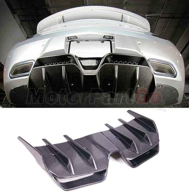 Renntech Style Carbon Fiber Rear Bumper Lip Spoiler Diffuser For Mercedes BENZ SLS R197 AMG  bodykit  M186 1