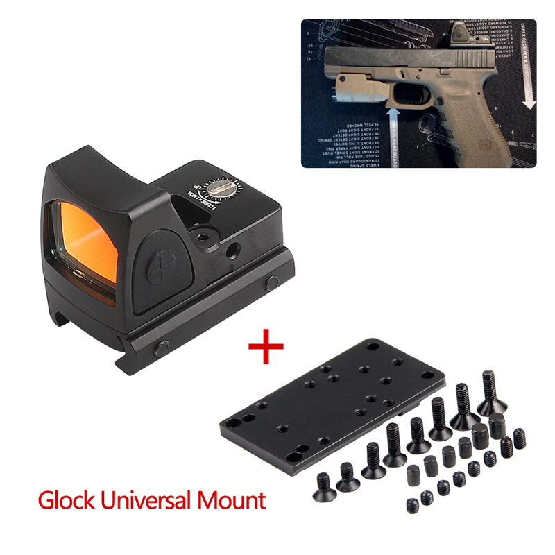 Collimator  Scope Red Dot Sight Airsoft Red Dot Sight Scope With Glock Universal Mount Airsoft Hunting Rifle Optical  Sight