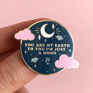 You Are My Earth to You I'm Just a Moon by Jin Enamel Brooch Pins Badge Lapel Pins Alloy Metal Fashion Jewelry Accessories Gifts